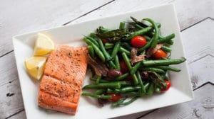 fit prehrana losos i mahune