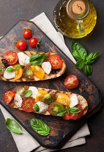 sendvič mozzarella rajčica